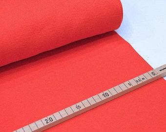 Rib tubular fabrics from 25 cm Red