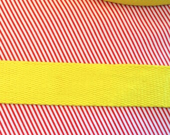 Cotton belt 3 cm yellow