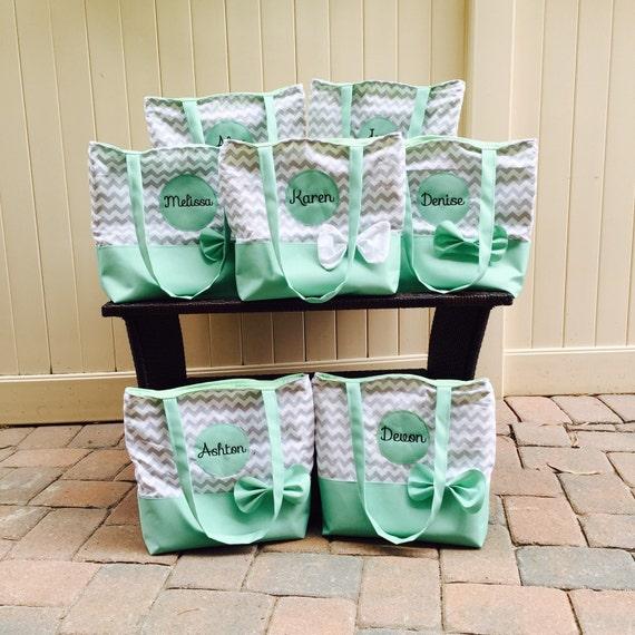 Mint Green Wedding Tote Set