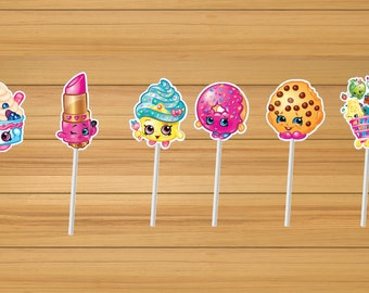 Shopkins party cupcake toppers - set of 24