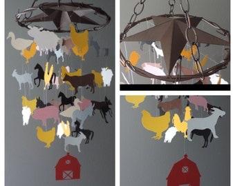 Iron Top Farm Animals Mobile