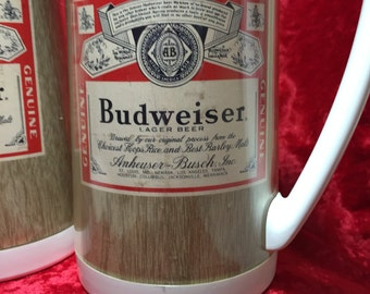 Vintage Budweiser Thermo Serv Mug 1970's only ONE Available