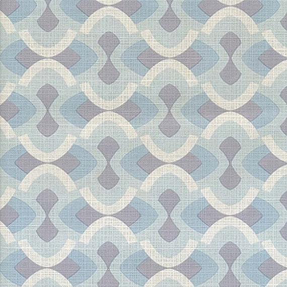 original mid century modern blue justintime geometric wallpaper 1970s