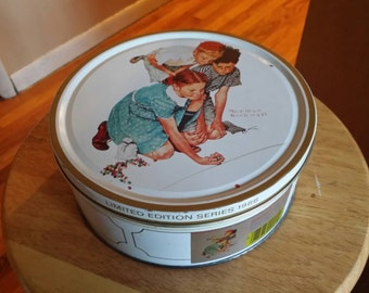 Norman Rockwell Limited Edition Series 1986 Tin