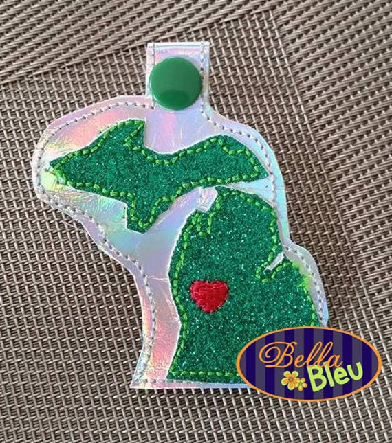 in the hoop luggage tag machine embroidery