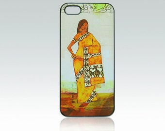 Indian woman iPhone 5 case, iPhone 5s, SE case, Ethnic iPhone 5, SE cover, iPhone 5s cover, art iPhone 5/5s, unique