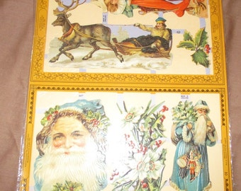 Antique Scrap Christmas Made in England
