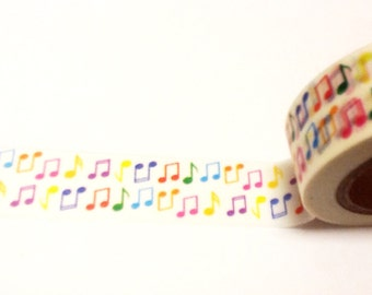 Colorful Music Note Washi Tape, Washi Tape, Planner Washi Tape, Scrapbook Supplies, Classroom Decorations