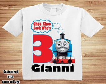 Thomas The Train Birthday T Shirt Personalized -