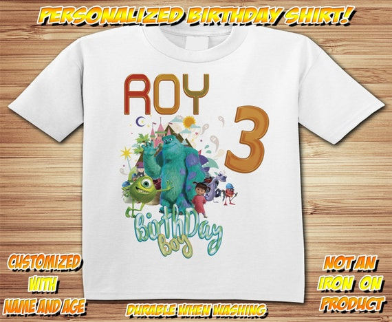 Personalized Monsters Inc University Birthday Shirt - tshirt custom Mike Sully