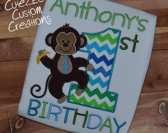 Monkey Birthday Onepiece/Shirt