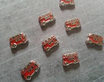 Vintage Red Doubledecker Bus British Floating Charm