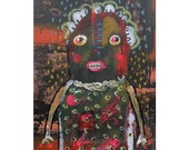 Weird Outsider Art Brut Raw Primitive Geeky Self Taught Artist Goth Fantasy Painting Primitive Urban Ugly Pop SurrealismTribal Creepy