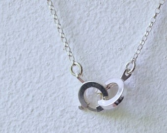 Handcuffs Style Silver Necklace