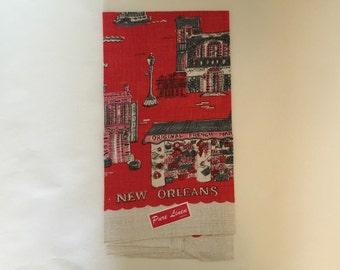 Vintage New Orleans Pure Linen Towel