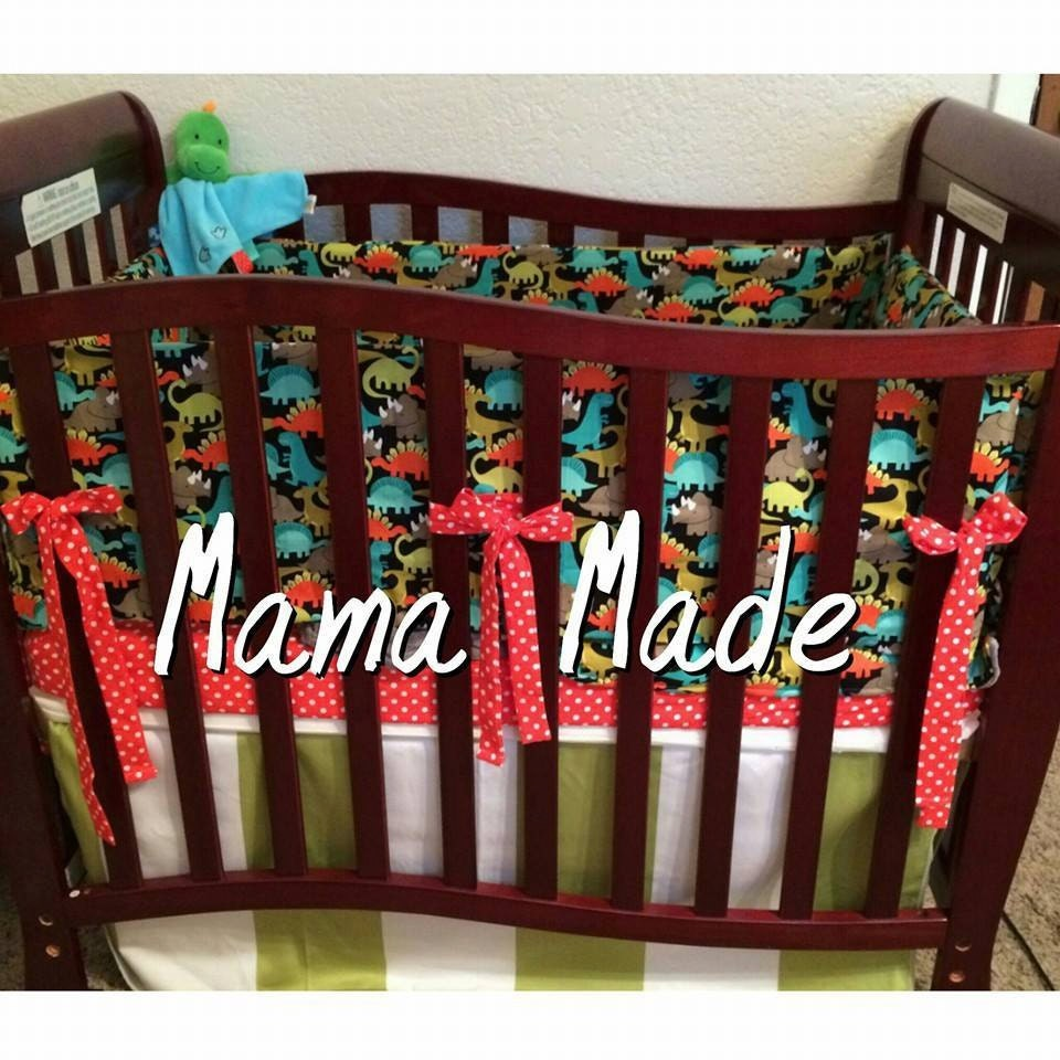 Dinosaur Mini Crib 4 Piece Bedding Set