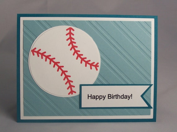 Handmade Greeting Card Baseball Birthday Card Son