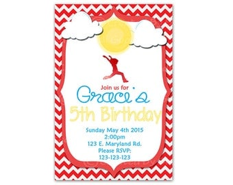 Annie Invitation Digital File - birthday party invitation