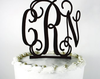 Acrylic Monogram Cake Topper