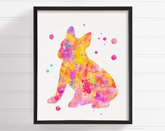 Watercolor French Bulldog, French Bulldog Art, French Bulldog Print, French Bulldog Painting, Watercolor Dog, Dog Wall Art, Dog Lover Gift