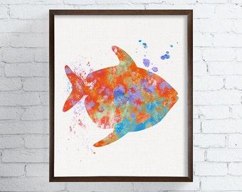 Watercolor Fish Art, Fish Art Print, Fish Painting, Moonfish, Opah, Coastal Wall Decor, Beach Art Print, Nautical Wall Art, Bathroom Decor