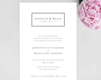 Simplicity is Key Invitation | Customizable | DOWNLOADABLE PDF | 5x7