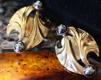 Elegant Vintage Ermani Bulatti Egyptian Revival Earrings