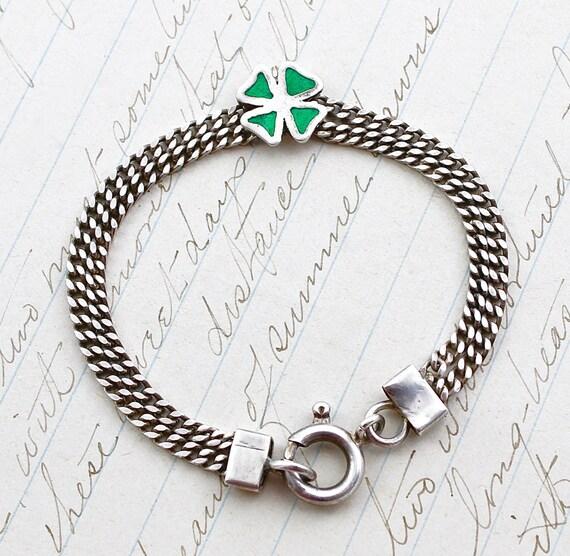 four leaf clover bracelet antique 835 silver