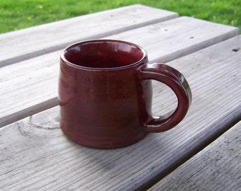 "hand made pottery mug, fired to cone 6 , stoneware coffee mug 2 3/4"" x 3 1/2"""