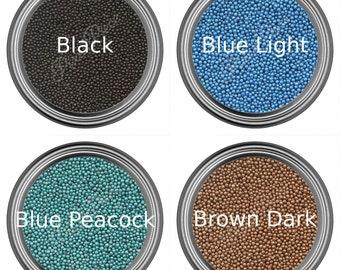 Caviar Beads - Nail Art - 20 Colors - Glass Bottles - Glass & Metallic Caviar - Micro Size Fashion Decor