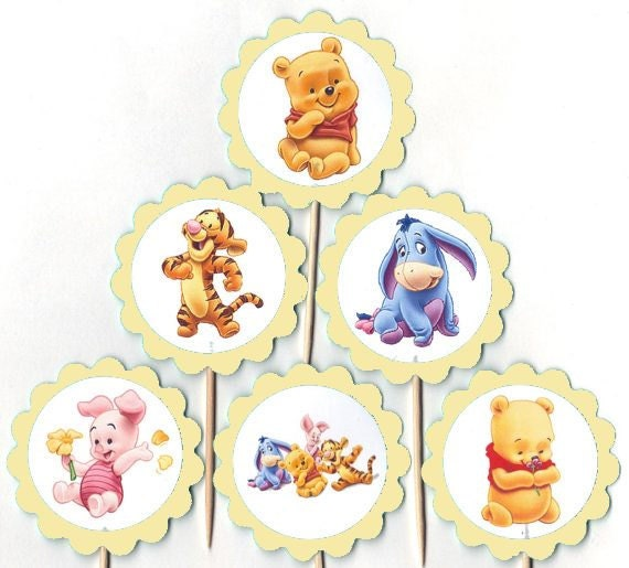 Items Similar To Baby Winnie The Pooh And Friends Cupcake