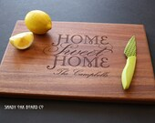 Home Sweet Home, Personalized Cutting Board, Personalized Housewarming Gift, New Home, Closing Gift, Hostess Gift, Realtor Gift