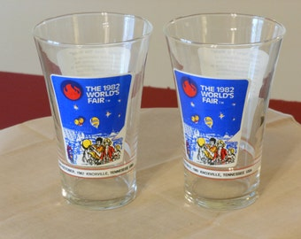 Knoxville, Tennessee 1982 World's Fair Glasses