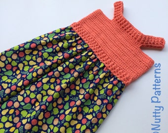 Crochet Pattern * Maya Sundress * PDF Instant download pattern # 491 * 6, 12, months and 2, 4, 6, 8, 10 years