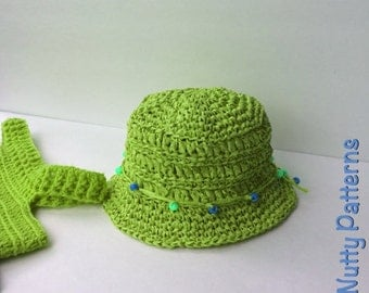 Crochet Pattern * Maya Hat * PDF Instant download pattern # 497 * Sun hat * raffia beach hat * baby toddler child teen adult * girls * boys