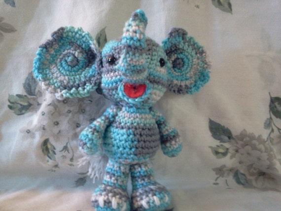 Amigurumi To Go Little Bigfoot Elephant : Little Bigfoot Elephant Amigurumi Elephant Crocheted Toy