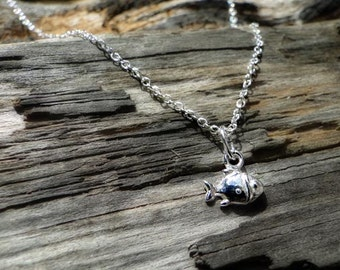 "Sterling silver fish necklace ""Little Fishy"""