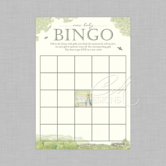 Peter Rabbit Baby Shower Bingo By DesignsbyCassieCM On Etsy