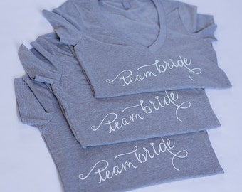 Team Bride, Bridal Party,  T-shirt, V-Neck, Mother of the Bride, Bachelorette Party, Photoshoot, Gifts For Bridesmaid, Bridal Shower, MOB