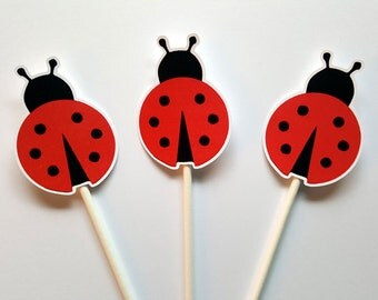 Ladybug Cupcake Toppers (82816648P)
