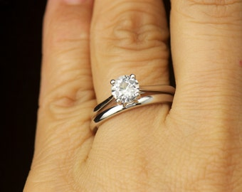 View Matching Ring Sets by DiamondDoveJewelry on Etsy