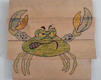 Angry Crab Wall Plaque