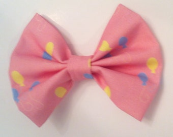 Balloon Hair Bow Medium Sized, Light Pink, Party