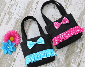 Child's Ruffle with Bow Purse