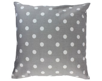 Gray Polka Dots Decorative Throw Pillow Covers Couch Pillow Covers Sofa Pillow Covers Gray Zippered Pillow Toss Pillow Cover Accent Pillow