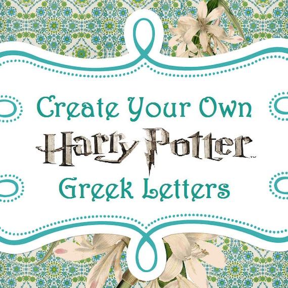 custom greek letter shirt harry potter