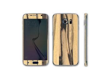 Samsung Galaxy S6 Edge Full Body Wrap DECAL Sticker Skin Kit Wood Series by Stickerboy-Set 4