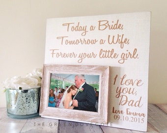 Parents Wedding Gift , Today A Bride , Wedding Frame , Parents Of The Groom Gift , Parents Of The Bride Gift , Today A Groom