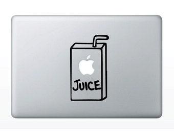 Apple Juice Box Sticker- Macbook Juice Box Sticker - Macbook Pro Juice Box Sticker - Macbook Juice Box Vinyl Decal