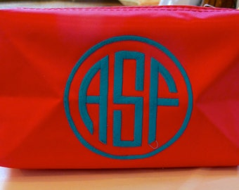 Monogrammed Zippered Pouch